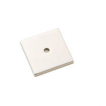 Emtek Art Deco Square Cabinet Knob Backplate