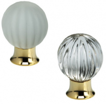 Omnia 4405 Clear Glass Cabinet Knob