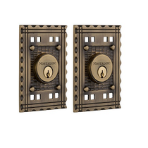 Nostalgic Warehouse CRADBL Craftsman Double Cylinder Deadbolt