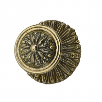 Brass Accents D05-K142 Helios Rosette with choice of Knob or Lever