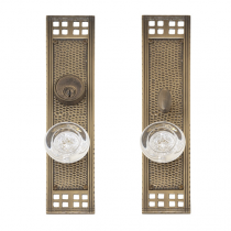 "Brass Accents D05-K535 Arts and Crafts Collection Mortise Entrance Set (2 1/2"" x 11 1/4"")"