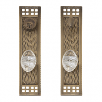 "Brass Accents D05-K535 Arts and Crafts Collection Deadbolt Plate (2 1/2"" x 11 1/4"")"
