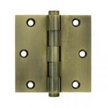 "Deltana 3 1/2"" x 3 1/2"" Square Corner Standard Solid Brass Hinges (Pair)"