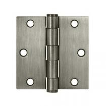 "Deltana 3 1/2"" x 3 1/2"" Square Corner Heavy Duty Steel Hinges (Pair)"