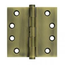 "Deltana 4"" x 4"" Square Corner Solid Brass Hinges with Non Removable Pin (Pair)"
