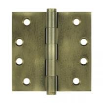 "Deltana 4"" x 4"" Square Corner Solid Brass Distressed Hinges (Pair)"