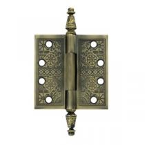 "Deltana 4"" x 4"" Square Corner Ornate Solid Brass Hinges (Pair)"