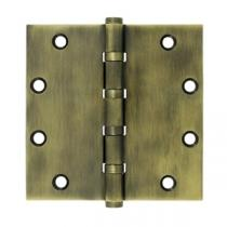 "Deltana 5"" x 5"" Square Corner Ball Bearing Solid Brass Hinges (Pair)"