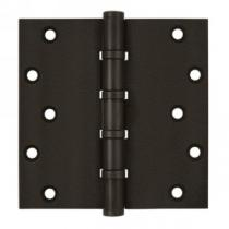 "Deltana 6"" x 6"" Square Corner Ball Bearing Solid Brass Hinges (Pair)"
