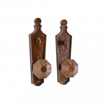 Rocky Mountain E10015, E10016, E10017 Paris Escutcheon by Roger Thomas with Choice of Knob or Lever