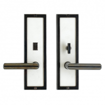 "Rocky Mountain E115, E116, E117  3"" x 10"" Designer Escutcheon With Choice of Knob or Lever"