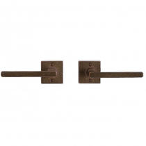 Rocky Mountain E204 Square Metro Escutcheon with Choice of Knob or Lever