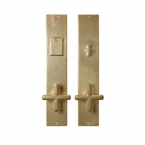 "Rocky Mountain 2-1/2"" x 13"" Metro Entry Set with choice of Knob or Lever (5-1/2"" C-C)"