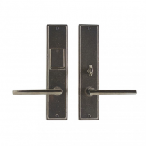 "Rocky Mountain 2-1/2"" x 11"" Stepped Escutcheon Entry Set with choice of Knob or Lever"