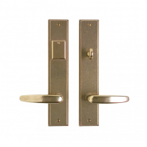 "Rocky Mountain 2-1/2"" x 13"" Stepped Escutcheon Entry Set with choice of Knob or Lever (5-1/2"" C-C)"