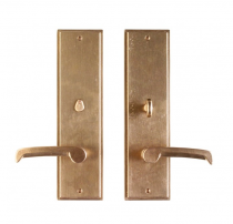 "Rocky Mountain 3-1/2"" x 13"" Stepped Escutcheon with choice of Knob or Lever"