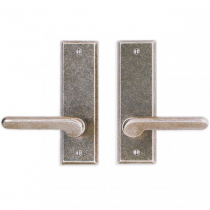 "Rocky Mountain 2-1/2"" x 8"" Rectangular Escutcheon with choice of Knob or Lever"