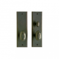 "Rocky Mountain 3"" x 10"" Rectangular Entry Set with choice of Knob or Lever"