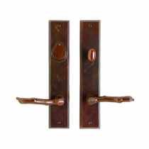 "Rocky Mountain 2-1/2"" x 13"" Rectangular Entry Set with choice of Knob or Lever (5-1/2"" C-C)"