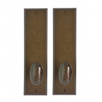 "Rocky Mountain 3-1/2"" x 13"" Rectangular Escutcheon with choice of Knob or Lever"