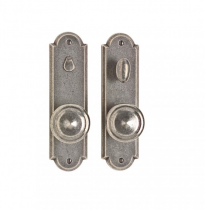 "Rocky Mountain 2-1/2"" x 9"" Arched Escutcheon with choice of Knob or Lever"