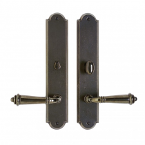 "Rocky Mountain 2-1/2"" x 13"" Arched Escutcheon with choice of Knob or Lever"