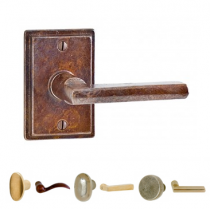 Rocky Mountain EB40 Stepped Escutcheon with choice of Knob or Lever from the Builder Series