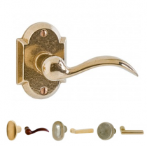 Rocky Mountain EB70 Arched Escutcheon with Choice of Knob or Lever from the Builder Series