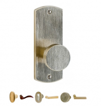 Rocky Mountain EB85 Curved Escutcheon with Choice of Knob or Lever from the Builder Series