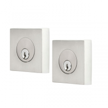 Emtek S50023 Stainless Steel Square Double Cylinder Deadbolt