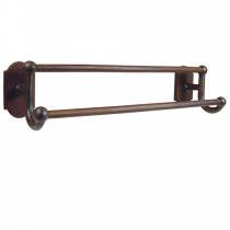 Emtek Sandcast Bronze Double Towel Bar