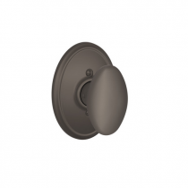Schlage F170-SIE-WKF Siena Single Dummy Door Knob Set Wakefield Rose