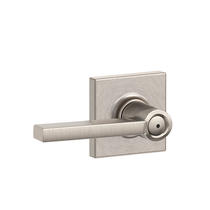 Schlage F40-LAT-COL Latitude Privacy Door Lever Set with Collins Rose