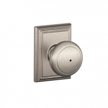 Schlage F40-AND-ADD Andover Privacy Door Knob Set with Addison Rose