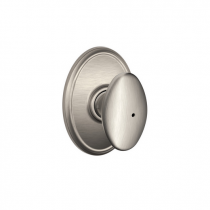 Schlage F40-SIE-WKF Siena Privacy Door Knob Set with Wakefield Rose