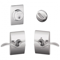 Schlage F57 F59 ACC/CEN Century Collection Single Cylinder Deadbolt with Accent Passage Lever