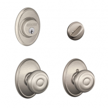Schlage F57 F59 GEO/WKF Wakefield Collection Single Cylinder Deadbolt with Georgian Passage Knob