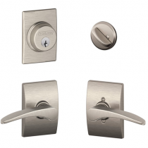Schlage F57 F59 MNH/CEN Century Collection Single Cylinder Deadbolt with Manhattan Passage Lever