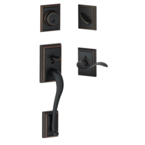 Schlage F60 Addison Handleset with Addison Interior Trim