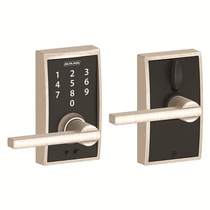 Schlage FE695-CEN-LAT Century Touch™ Entry Lever Set with Latitude Lever