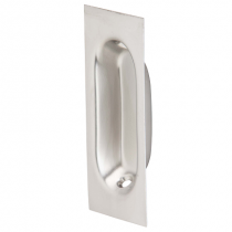 Fusion Square Edge Oval Flush Pull