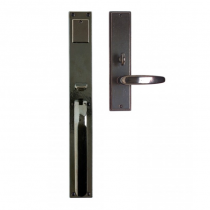 "Rocky Mountain G225, G227 Metro Entry Set 2-1/4"" x 17"" with Choice of Interior Escutcheon"