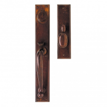 "Rocky Mountain G641/G644 Rectangular Entry Set 2-3/4"" x 18"" with Choice of Interior Escutcheon"