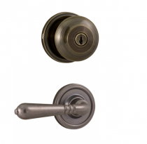 Weslock Traditionale Collection 640I-Y Knob x  Legacy Lever Keyed Entry Set