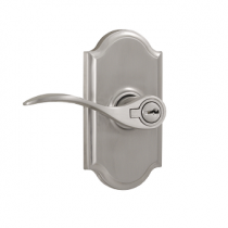 Weslock Elegance Collection Bordeau Keyed Entry Lever Set with Choice of Decorative Rose