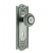 Nostalgic Warehouse Meadows Backplate Privacy Mortise Lock Set