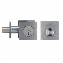 Omnia D9000S Modern Stainless Steel Square Auxiliary Deadbolt