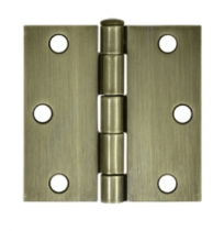"Deltana 3"" x 3"" Square Corner Residential Steel Hinges (Pair)"