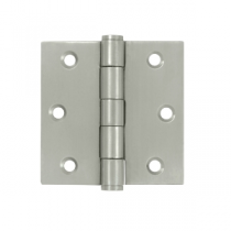 "Deltana SS35-R 3-1/2"" x 3-1/2"" Square Corner Stainless Steel Hinges (Pair) 0.085"" gauge"