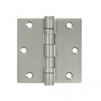 "Deltana SS35B 3-1/2"" x 3-1/2"" Square Corner Ball Bearing Stainless Steel Hinges (Pair) 0.119"" gauge"